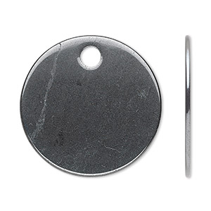focal, hematite (natural), 30mm flat round, b grade, mohs hardness 5-1/2 to 6-1/2. sold per pkg of 2.