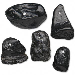 focal mix, tektite (waxed), medium to extra-large nugget, mohs hardness 5 to 5-1/2. sold per pkg of 5.