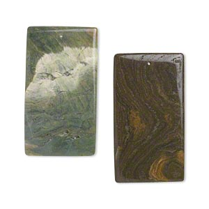 focal, ocean jasper (natural), 64x35mm flat rectangle, b- grade, mohs hardness 6-1/2 to 7. sold per pkg of 2.