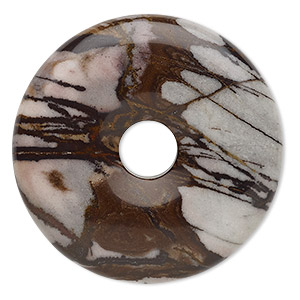 focal, outback jasper (natural), 40mm round donut, b grade, mohs hardness 6-1/2 to 7. sold individually.