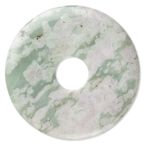 focal, peace jade (natural), 50mm round donut, b grade, mohs hardness 6 to 6-1/2. sold individually.