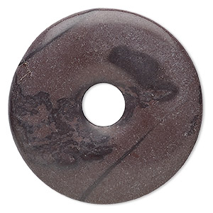 focal, purple creek stone (stabilized), dark, 50mm round donut, b grade, mohs hardness 3-1/2 to 4. sold individually.