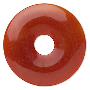 focal, red agate (dyed / heated), 50mm round donut, b grade, mohs hardness 6-1/2 to 7. sold individually.