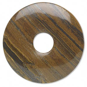 focal, tiger iron (natural), 50mm round donut, b grade, mohs hardness 7. sold individually.