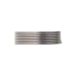 french wire, enamel-coated brass, grey, 0.7mm tube. sold per pkg of (2) 19-1/2 inch strands.