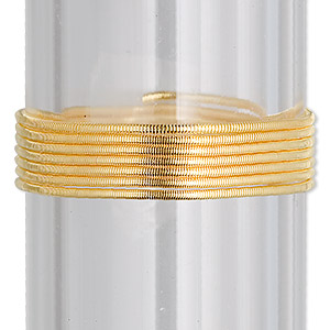 french wire, vermeil, 1mm tube. sold per approximately 18-inch strand.
