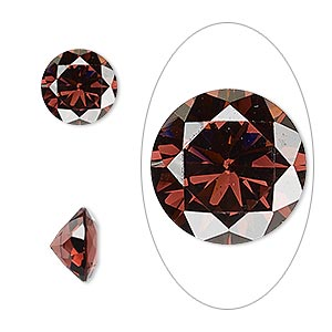 gem, cubic zirconia, alexandrite purple, 10mm faceted round, mohs hardness 8-1/2. sold individually.