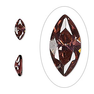 gem, cubic zirconia, alexandrite purple, 10x5mm faceted marquise, mohs hardness 8-1/2. sold individually.