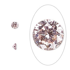 gem, cubic zirconia, sapphire rose, 4mm faceted round, mohs hardness 8-1/2. sold per pkg of 5.