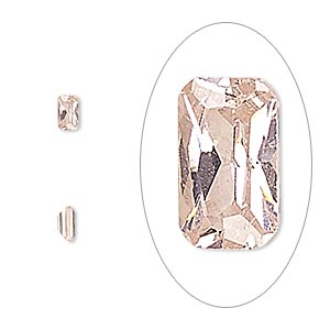 gem, cubic zirconia, sapphire rose, 5x3mm faceted emerald-cut, mohs hardness 8-1/2. sold per pkg of 5.
