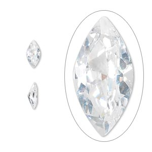 gem, cubic zirconia, spinel white, 8x4mm faceted marquise, mohs hardness 8-1/2. sold per pkg of 2.