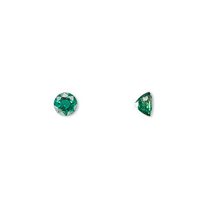 gem, emerald (oiled), 5mm faceted round, a grade, mohs hardness 7-1/2 to 8. sold individually.