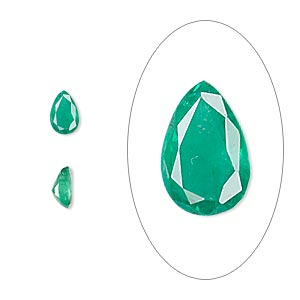 gem, emerald (oiled), 6x4mm faceted pear, b grade, mohs hardness 7-1/2 to 8. sold individually.