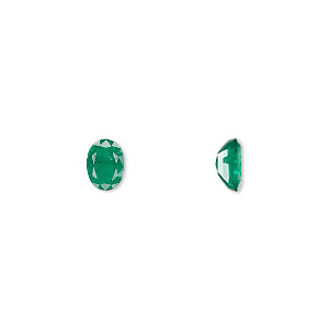 gem, emerald (oiled), 7x5mm faceted oval, a grade, mohs hardness 7-1/2 to 8. sold individually.