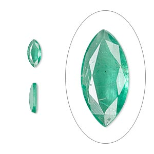 gem, emerald (oiled), 8x4mm faceted marquise, b grade, mohs hardness 7-1/2 to 8. sold individually.