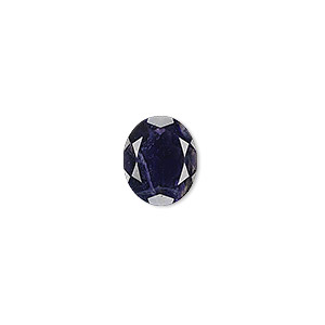 gem, iolite (natural), 12x10mm faceted oval, a grade, mohs hardness 7 to 7-1/2. sold individually.