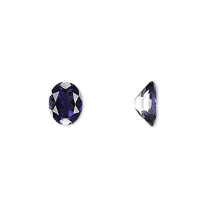 gem, iolite (natural), 9x7mm faceted oval, a grade, mohs hardness 7 to 7-1/2. sold individually.