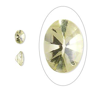 gem, lemon quartz (heated), 7x5mm buffed-top faceted oval, a grade, mohs hardness 7. sold per pkg of 2.
