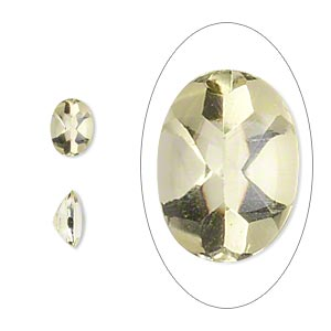gem, lemon quartz (heated), 8x6mm buffed-top faceted oval. sold per pkg of 2.