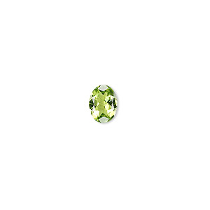 gem, peridot (natural), 8x6mm faceted oval, a grade, mohs hardness 6-1/2 to 7. sold individually.