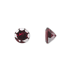 gem, rhodolite garnet (natural), 10mm faceted round, a grade, mohs hardness 7 to 7-1/2. sold individually.