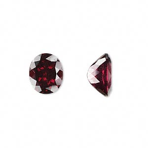 gem, rhodolite garnet (natural), 12x10mm faceted oval, a grade, mohs hardness 7 to 7-1/2. sold individually.