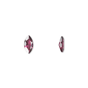 gem, rhodolite garnet (natural), 8x4mm hand-cut faceted marquise, a grade, mohs hardness 7 to 7-1/2. sold individually.
