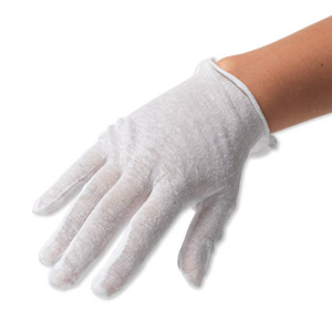 gloves, lisle cotton, white, large. sold per pkg of 2 pairs.