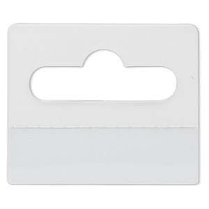hang tab, plastic, clear, 1-3/4x1-1/2 inch rectangle. sold per pkg of 200.