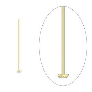 headpin, 14kt gold-filled, 1 inch, 24 gauge. sold per pkg of 25.
