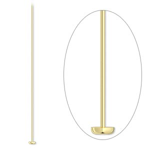 headpin, 14kt gold-filled, 2-inches, 26 gauge. sold per pkg 10.
