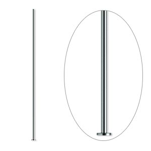 headpin, gunmetal-plated brass, 1-1/2 inches, 24 gauge. sold per pkg of 500.