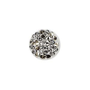 iron-on transfer, swarovski hotfix crystal rocks, crystal metallic light gold, 15mm round (340351). sold individually.