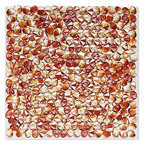 iron-on transfer, swarovski hotfix crystal rocks, crystal red magma, 40x40mm square (72003). sold individually.