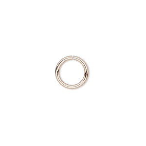 jumpring, 14kt rose gold-filled, 5mm round, 3.6mm inside diameter, 22 gauge. sold per pkg of 20.