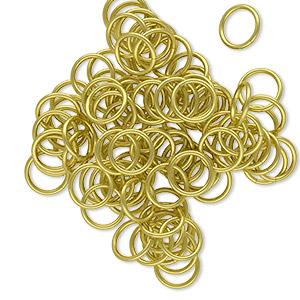 jumpring, brass, 7mm round, 5.5mm inside diameter, 20 gauge. sold per pkg of 100.