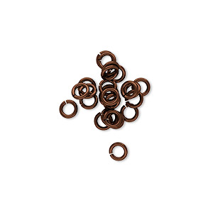 jumpring, niobium, bronze, 4mm round, 2.4mm inside diameter, 20 gauge. sold per pkg of 25.