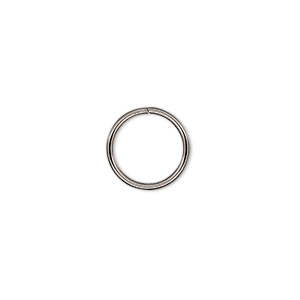jumpring, stainless steel, 12mm round, 10mm inside diameter, 18 gauge. sold per pkg of 500.