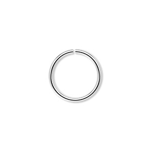 jumpring, sterling silver, 15mm round, 12.6mm inside diameter, 16 gauge. sold per pkg of 4.