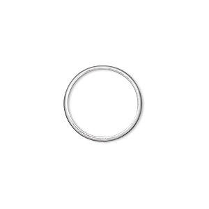 jumpring, sterling silver, 16mm soldered round, 13.5mm inside diameter, 12 gauge. sold per pkg of 4.