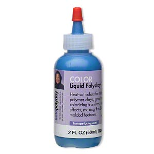 kato polyclay™ medium liquid, transparent ultra blue. sold per 2-fluid ounce bottle.