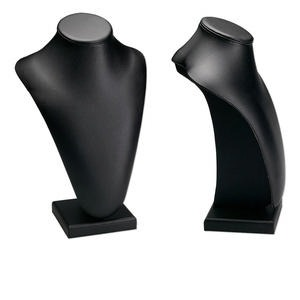 leatherette long pedestal display, black. 9in wide x 6in deep x 13-1/2in high. sold individually.