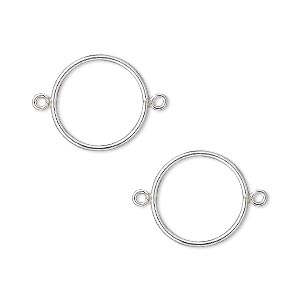 link, sterling silver-filled, 14mm open round. sold per pkg of 2.