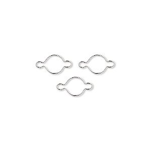 link, wrap-tite, sterling silver, 5mm round setting. sold per pkg of 3.