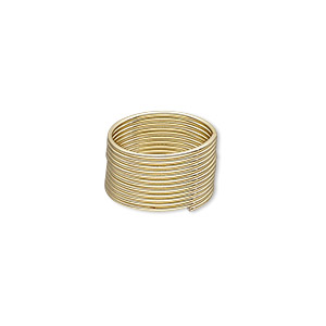 memory wire, gold-plated high carbon steel, 1/2 inch toe ring, 0.7mm thick. sold per pkg of 12 loops.