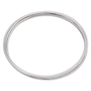memory wire, stainless steel, 2-1/4 inch bracelet, 0.65-0.75mm thick. sold per pkg of 12 loops.
