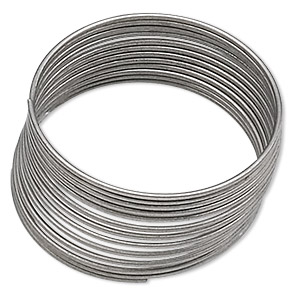 memory wire, stainless steel, 3/4 inch ring, 0.65-0.75mm thick. sold per 1-ounce pkg, approximately 155 loops.
