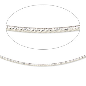 neckwire, sterling silver, 1.2mm diamond-cut snake chain, 18 inches with 2mm friction clasp. sold individually.