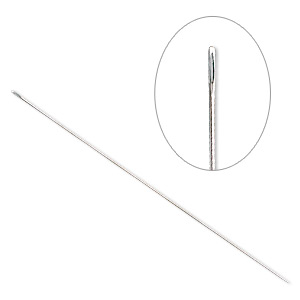 needle, steel, 0.5mm, 3-1/2 inches. sold per pkg of 4.