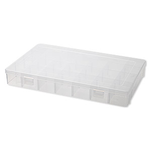 organizer, plastic, 14x9x2 inch rectangle with 28 adjustable compartments. sold individually.
